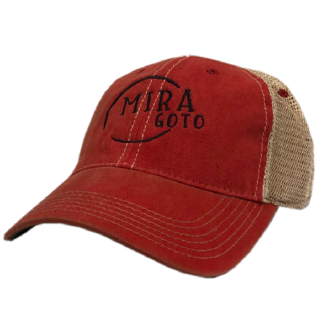 Mira Goto Dirty Red and Khaki Ballcap