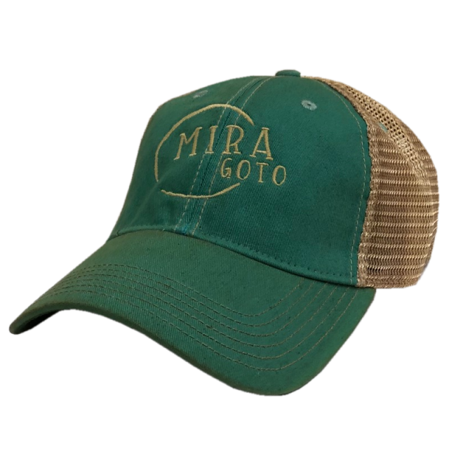 Mira Goto Dirty Teal and Khaki Ballcap